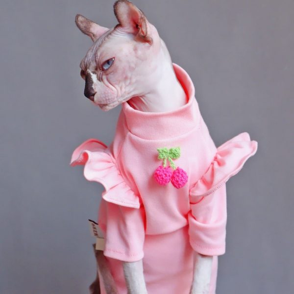 T-Shirts for Hairless Cats & Hairless Cats | Strawberry puff sleeve t-shirts