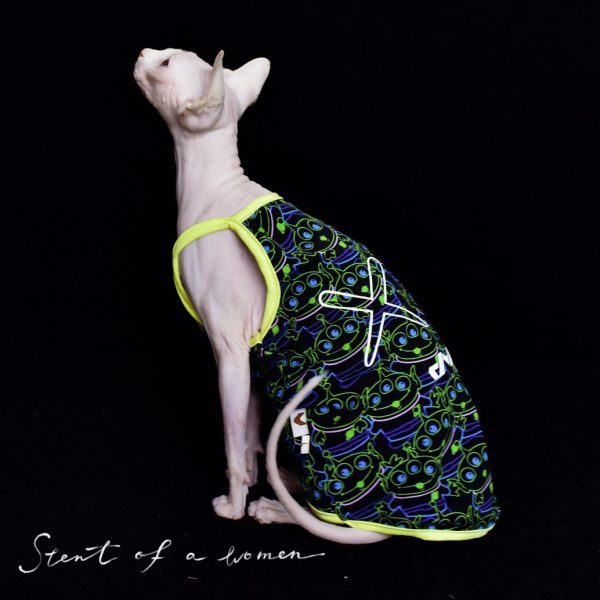 Summer Vest for Sphynx Cats & Hairless Cats | Trendy monster three eyes
