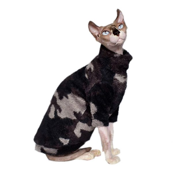 Hairless Cat In Sweater Cat Sweater, Ugly Cat Sweater-Turtleneck