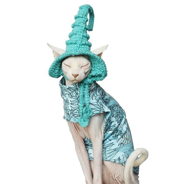 Cat Halloween Costumes | Kitty Cat Halloween Costume-Aqua blue cotton