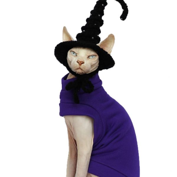 Cat Costumes For Halloween | Cat Halloween Costume-Purple thick cloth