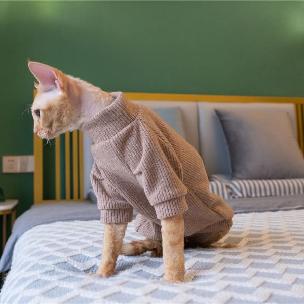 Hairless Cat Cute Sweater | Cat Sweater, Ugly Cat Sweater-Turtleneck