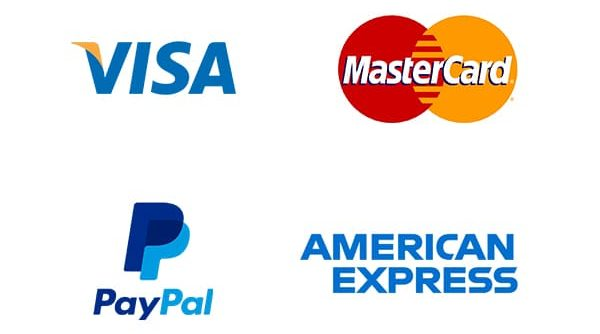 visa, mastercard, paypal, american express