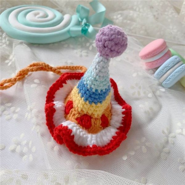 Cat Birthday Hats with Rainbow | Cat with A Birthday Hat, Birthday Hats