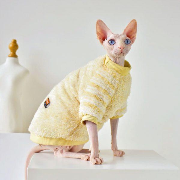 Cat Winter Coat For Cat | Hairless Cat With Winter Coat-Soft Fleece