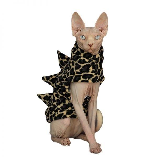 Cat With Dinosaur Costumes | Cat Apparel, Cat Winter Coat, Polar Fleece