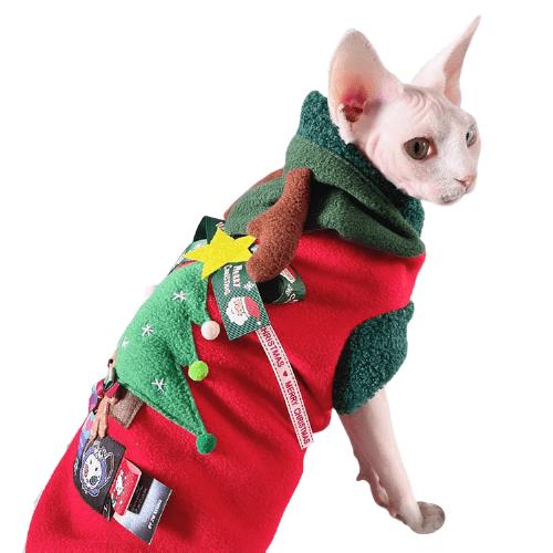 Cat Christmas Antlers Sweater | Christmas antlers&Christmas tree