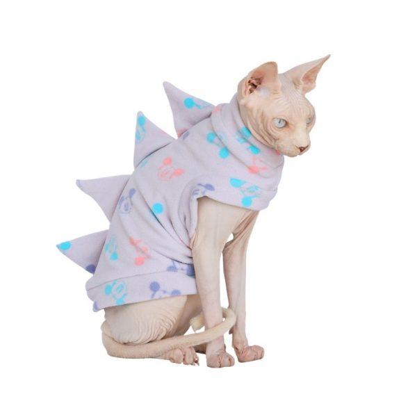 Dinosaur Clothes For Cats | Cat Apparel, Cat Winter Coat, Polar Fleece