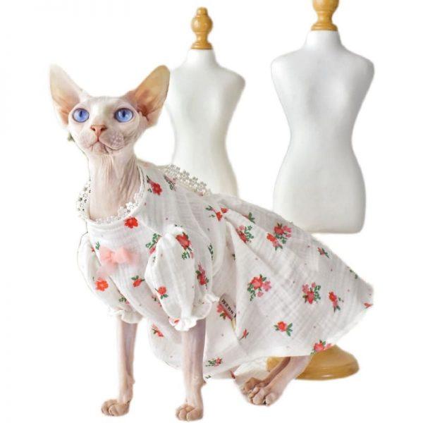 Lace Dress For Cat & Sphynx cat in dress | Cat Apparel, Cat Dress