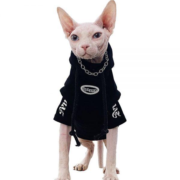 Cat Hoodies Black | Kitten Sweatshirt, Cat in Black Fashion Hoodie