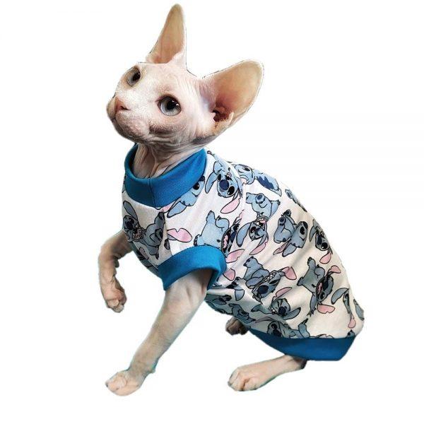 Cat Stitch Shirt | Sphynx Cat Shirt, Cat in Shirt, Cat in Clothes, Cat Apparel