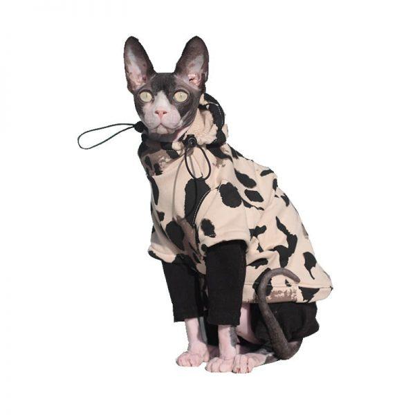 Cat Sweatshirt Drawstring Sweatshirt, Cat in sweatshirt, Hoodie for cats