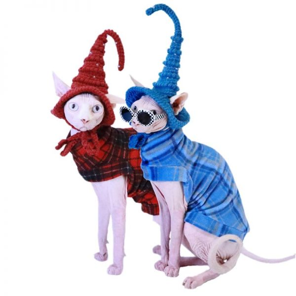 Christmas Outfits for Sphynx | Cat in Clothes, Christmas Sweater for Cats