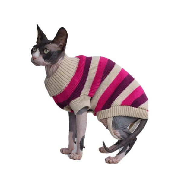 Hairless Cat Sweater | Sphynx Cat Sweater Turtleneck knitted Sweater
