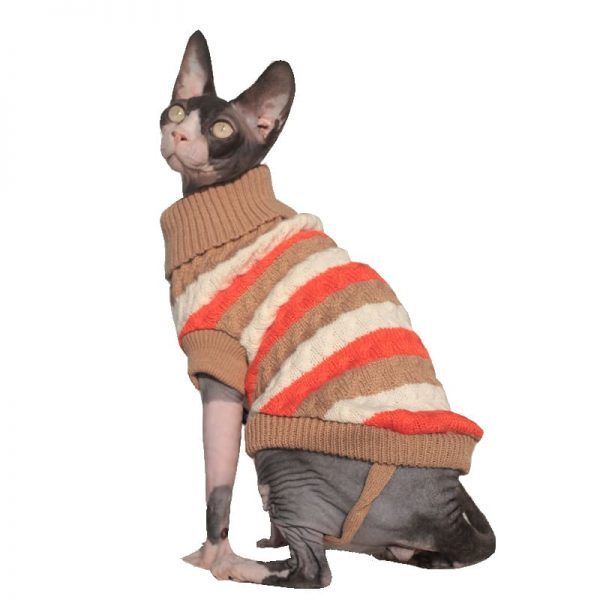 Hairless Cat Sweater Sphynx Cat Sweater Turtleneck knitted Sweater