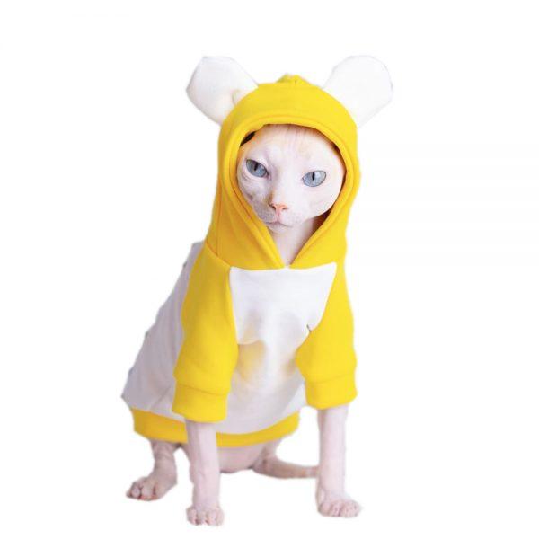 Thick Hoodies for Cat | Kitten Sweatshirt, Cat in Cartoon little bear Hoodie