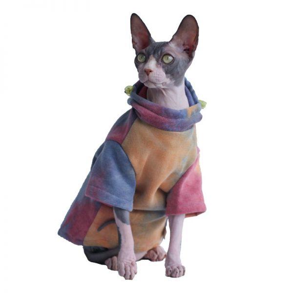 Tie Dye Hoodies for Cat | Kitten Sweatshirt, Cat in Tie Dye Sweatshirt